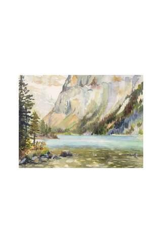 """Mountain Lake"" 11 x 14"" Giclee print by Tina Mueller"