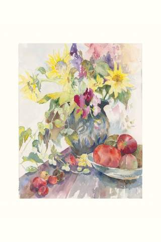 """""""Tomatos and Hops"""" 11 x 14"""" Giclee print by Tina Mueller"""