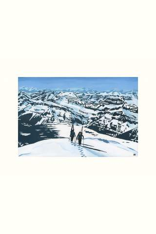 """""""Mount Columbia Summit"""" 8 x 12"""" Giclee print by Brodie Ritchie"""