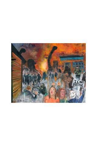 """I Can't Breath"" 24 x 30"" Giclee canvas print by Brant Adamson"