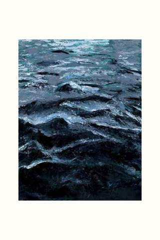 """Dark Waves"" 12 x 32"" Giclee canvas print by Carla Lam"