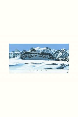 """""""Skinning Past Castleguard Mountain"""" 8 x 16"""" Giclee print by Brodie Ritchie"""