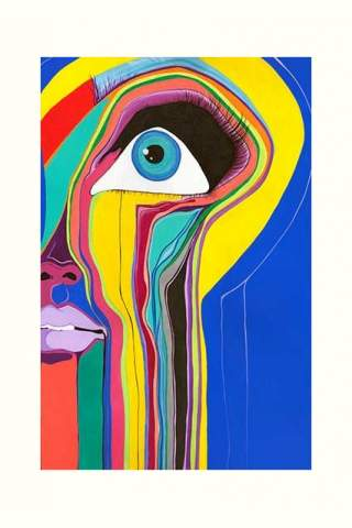 """""""Face it"""" 12 x 18"""" Giclee print by Justine Clark"""
