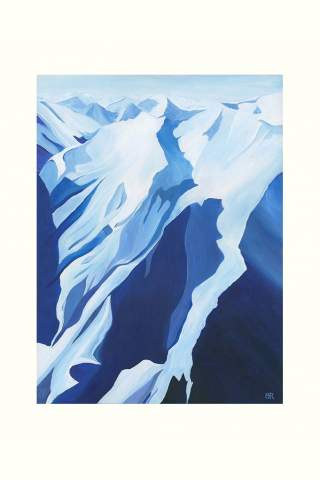 """""""Above the Monashees"""" 9 x 12"""" Giclee print by Brodie Ritchie"""