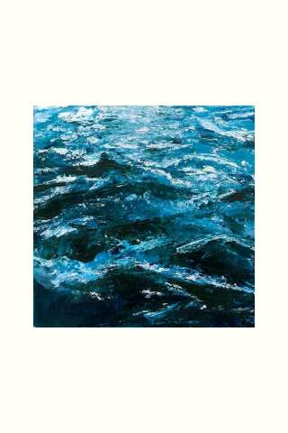 """""""Blue Waves"""" 16 x 16"""" Giclee canvas print by Carla Lam"""