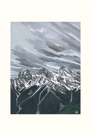 """""""Three Sisters from Grassi Knob"""" 9 x 12"""" Giclee print by Brodie Ritchie"""
