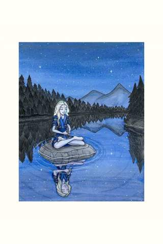 """""""On the Lake"""" 8 x 10"""" Giclee print by Maggie Lasko"""