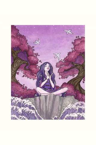 """""""At Peace"""" watercolor 8 x 10"""" Giclee print by Maggie Lasko"""