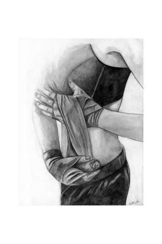 """Boxer"" 9 x 12"" Giclee print by Kaylene Striker"