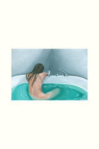 """""""Lost on You"""" 12 x 18"""" Giclee print by Nicole Coursen"""