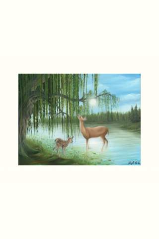 """""""Beside Still Waters"""" 12 x 16"""" Giclee print by Kayla Goetz"""