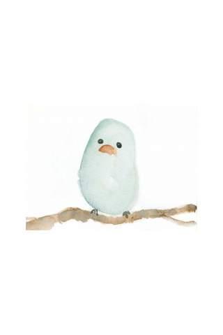 """Little Blue Bird"" 8 x 10"" Giclee print by Jen Shaw"
